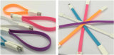 Doppeltes seitliches flaches magnetisches USB-Kabel für Smartphones (LCCB-058)