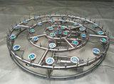 Lumière de fontaine à anneau sous-marin à LED colorée de haute qualité