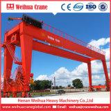 Кран на козлах установленный рельсом контейнера Weihua Rmg