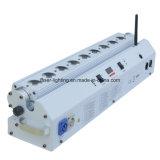 9*15W Lichten Rgbaw van de Wasmachine van de Muur DMX van de afstandsbediening de Batterij In werking gestelde