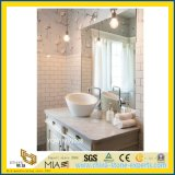 Hotelのための固体Surface WhiteカラーラMarble Bathroom Vanity Top