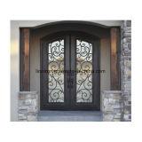 Сдобренная роскошная медная бронзовая передняя дверь входа