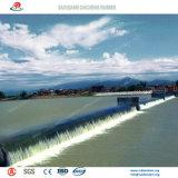 Diga di gomma gonfiabile personalizzata del reggilibro per il progetto di tutela dell'acqua
