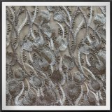Шнурок вышивки сетки цветка шнурка вышивки Tulle шнурка вышивки сетки золотистый