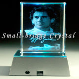 Base cristalina del cubo LED