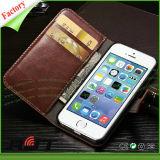 Soem fertigen Kartenhalter-echtes Leder-Kästen für iPhone6 kundenspezifisch an