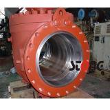 válvula de esfera montada de Wcb da entrada 2PCS eixo lateral de 600lb