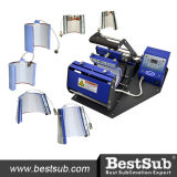 Bestsub horizontale Becher-Presse 6 in 1 multi Becher-Wärme Presseat Jtsb06-6 Sublimation-thermischer Übertragung