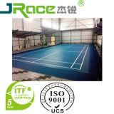 La cour de badminton d'Indoor&Outdoor folâtre la surface d'étage