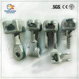 Ojo galvanizado acero forjado del socket 120kn para la línea de transmisión