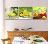 Плодоовощи картины стены горячего надувательства 3 частей самомоднейшие крася домашнее декоративное изображение после того как искусствоа стены я покрашены на доме холстины печатают Mc-195