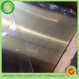 De Kleur Geborstelde Plaat van het Blad van het Roestvrij staal PVD voor de Apparatuur van de Keuken
