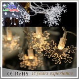 Indicatori luminosi magici infiammanti della stringa del fiocco di neve LED della decorazione di natale di effetto