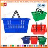 Do supermercado barato do OEM do preço do fabricante de China cesta de compra plástica (Zhb109)