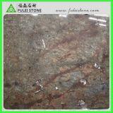 Mármore de mármore fóssil vermelho de Brown da laje do oceano jurássico novo