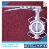 Tipo Bct-F4bfv-16 da bolacha da válvula de borboleta da linha central da válvula de borboleta da selagem de PTFE