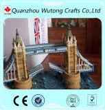 Modelo de encargo del edificio del diseño del puente de Londres de los artes del recuerdo de la resina
