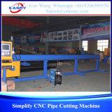Tipo claro máquina de estaca redonda da tubulação do CNC para o pequeno diâmetro