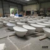 Vasca da bagno ovale indipendente di superficie solida acrilica