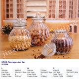 Vente en gros de nouveaux contenants de stockage en verre de verre de stockage de verre / réservoir de stockage en verre avec couvercle