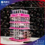 Organizzatore cosmetico di giro acrilico del rossetto di colore dentellare