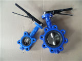 125lb 150lb Cast Iron Lug Butterfly Valve (con due Shaft)