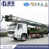 plataforma de perforación montada carro profundo del receptor de papel de agua de los 400m