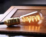 Bulbos A19 T45 ST64 G80 G95, vidrio ambarino, bulbo espiral del filamento LED de 3W Dimmable Edison, 2200K caliente estupendo, base de E26 E27, iluminación decorativa de MTX LED del hogar