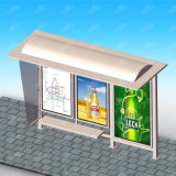 Kundenspezifische Größen-Sonnenenergie, die Bus-Kiosk mit LED für Förderung bekanntmacht