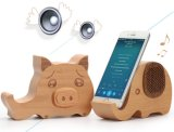 Altavoz de madera animal encantador de Bluetooth del sostenedor del teléfono móvil del regalo de gama alta
