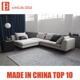 Sofá seccional del sofá del cuero blanco de la tela de los muebles de la sala de estar