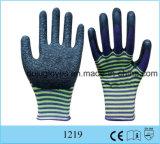 Oberster schwarzer Mikro-Schaumgummi Latex beschichtete 3/4 Plam Sicherheits-Arbeitshandschuh für die schützende Hand