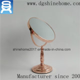 로즈 금 장식용 미러는, 둥근 금속 두 배 측 미러 책상 미러를 구성한다