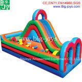 Curso de obstáculo inflável pequeno para a venda, obstáculo inflável barato com corrediça