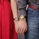 Het Paar van Belbi modelleert de Eenvoudige Mannen Bedrijfs van het Leer en de Vrouwen letten op Waterdicht Horloge