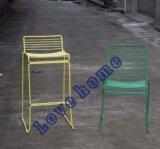 レストランの庭の居間の椅子を食事する金属の余暇ワイヤー