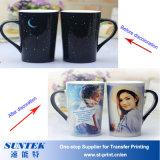 Color de DIY que cambia la taza revestida de cerámica del traspaso térmico de la sublimación