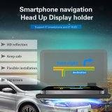 H6 zet het Hoofd van Hud van de Projector van Smartphone op GPS van de Auto van de Houder van de Vertoning de Auto van de Navigator de Houder van de Telefoon van de Tribune Zwarte op AntislipMat