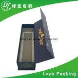 Rectángulo de regalo de papel rígido plegable de la cartulina para el empaquetado de los accesorios del vino