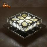 Ristorante che pranza decorando lampadario a bracci a cristallo moderno quadrato