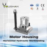 Dispositivo elétrico hidráulico de Workholding da carcaça de motor com Doosan Nhm6300