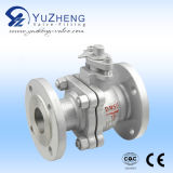 Stainless industrial Steel 2PC Ball Valve com ISO Pad