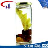 Kruiken de van uitstekende kwaliteit van het Glas van de Vorm van de Cilinder met Deksel (CHJ8297)