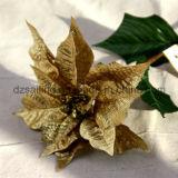 Большой искусственний цветок Poinsettia для украшения дома рождества (SF15962)