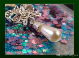 Случай телефона плывуна TPU звезды перлы диаманта жидкостный