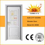 Подгонянная дверь входа виллы краски дуба высокого качества деревянная (SC-W096)