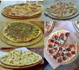 Alta calidad comercial Cocina 3 Cubierta 9 bandejas de gas de piedra base de pizza Horno