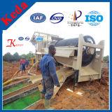 금 씻기 (50-100t/h)를 위한 이동할 수 있는 Kdtj-50 회전식 원통의 체 스크린