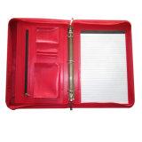 반지 바인더를 가진 주문 휴대용 지퍼 A4 Hangle 가죽 서류 가방 포트홀리로