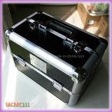 Cas cosmétique de beauté en aluminium de PVC de crocodile (SACMC111)
